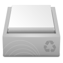 White Recycle Bin Full icon