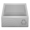 White Recycle Bin icon