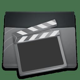 Black Folder Videos icon
