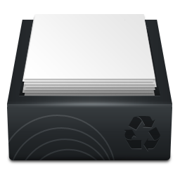 Black Recycle Bin Full icon