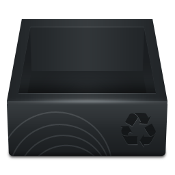 Black Recycle Bin iconRecycle Bin Icon Black