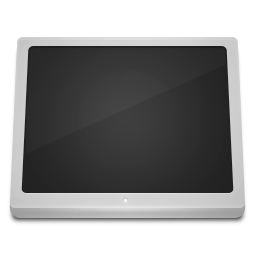 White Computer icon