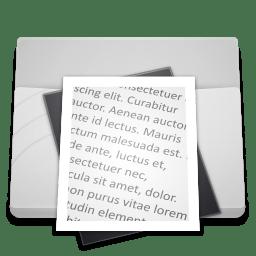 White Folder Documents icon