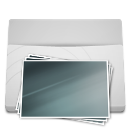White Folder Pictures icon