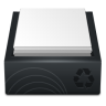Black-Recycle-Bin-Full icon
