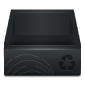Black-Recycle-Bin icon