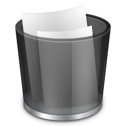 Start Menu Recycle Bin Full iconRecycle Bin Icon Black