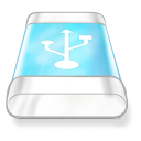 Drive blue usb icon