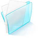 folder blue paper icon