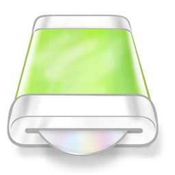 Drive green disk icon