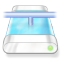 Drive blue network icon