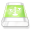 Drive-green-usb icon