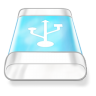Drive-blue-usb icon