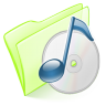 Folder-green-music icon