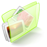 Folder-green-pictures icon