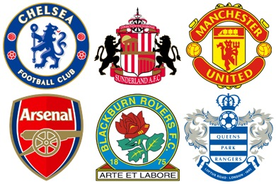 English Football Club Icons