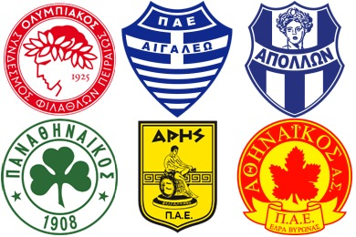 Greek Football Club Icons