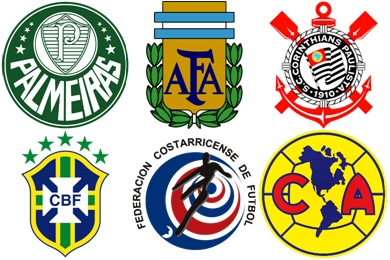South American Football Club Icons