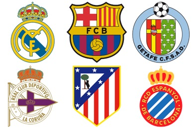Spanish Football Club Icons