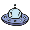 Alien ship icon