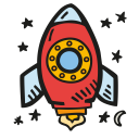 Space rocket icon