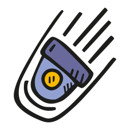 Falling space capsule icon