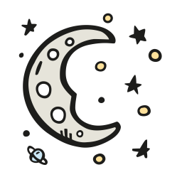 Moon dreamy icon