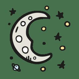 Moon dreamy icon