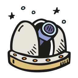 Space observatory icon