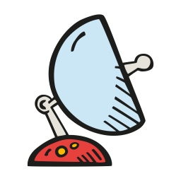Space satellite dish icon