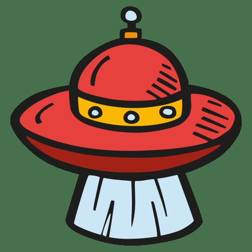 Alien ship beam icon