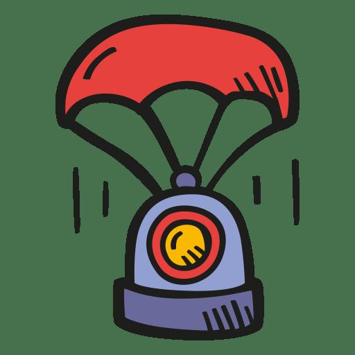 Landing space capsule icon