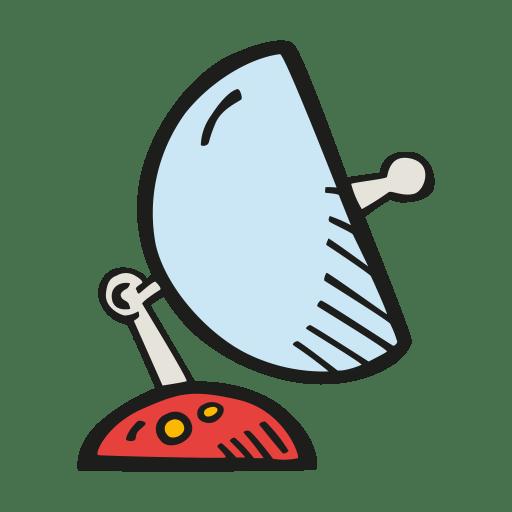 Space satellite dish icon