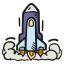 Space shuttle launch icon