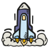 Space-shuttle-launch icon