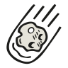 Falling-asteroid icon