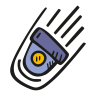 Falling-space-capsule icon