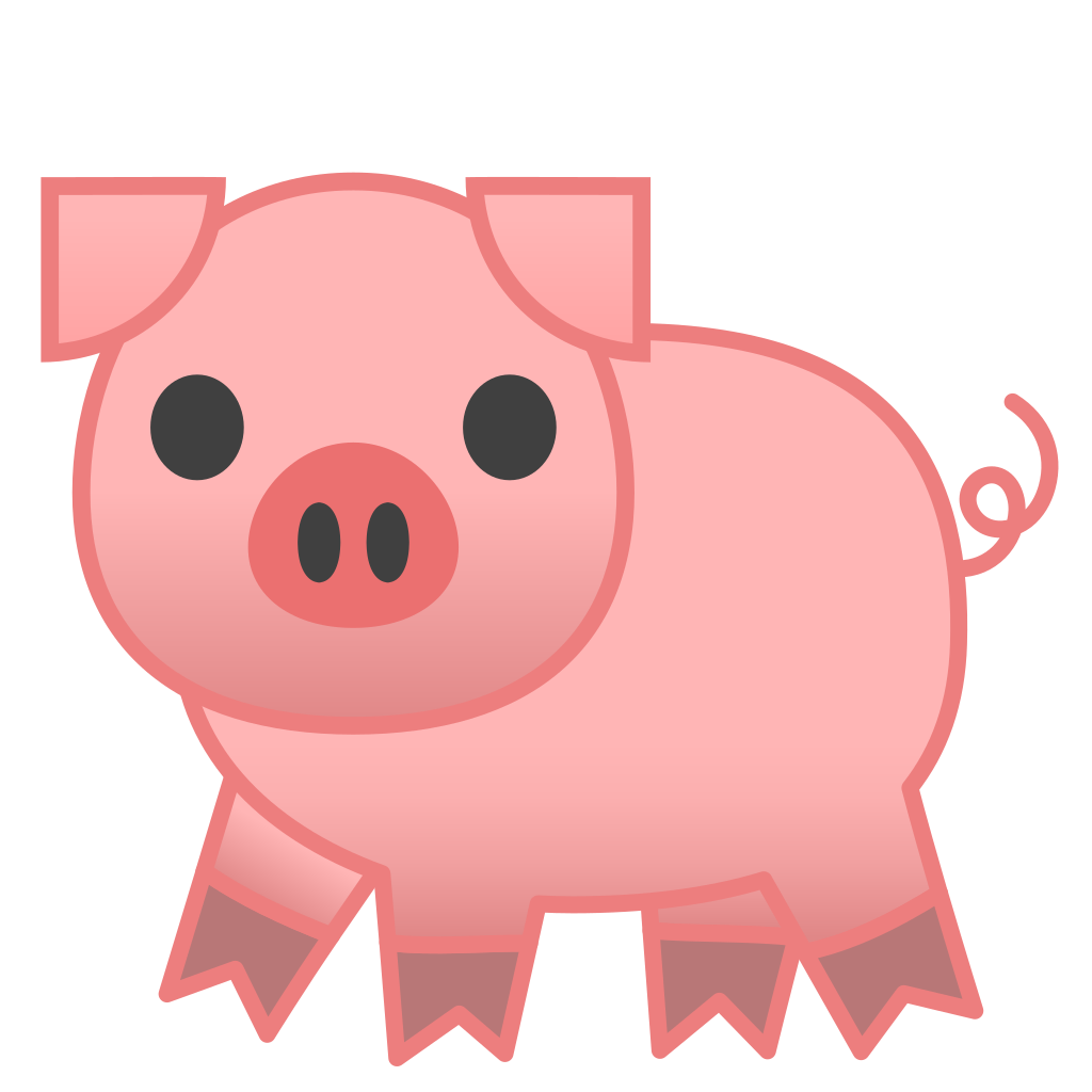 pig icon noto emoji animals nature iconset google free pig clip art 1st birthday free pig clipart black white