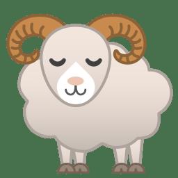 Ram Icon | Noto Emoji Animals Nature Iconset | Google