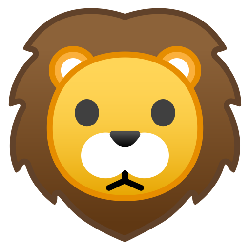 Lion face icon