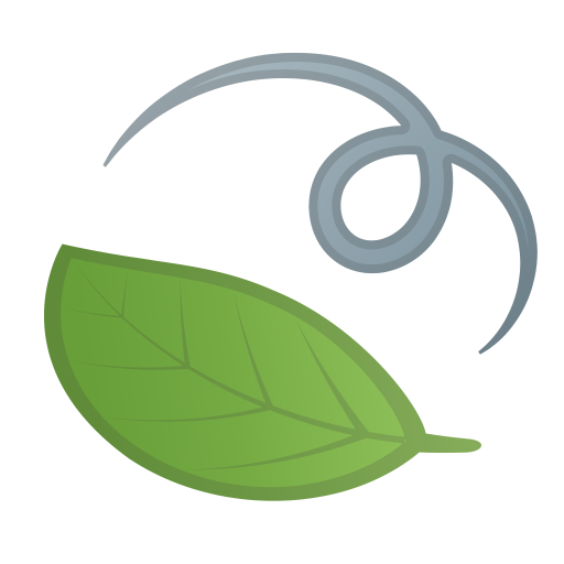 Leaf fluttering in wind icon