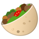 Stuffed flatbread icon