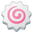 Fish cake with swirl icon