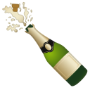 Bottle with popping cork icon
