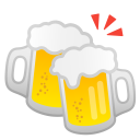 Clinking beer mugs icon