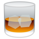 Tumbler glass icon