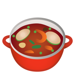 Pot of food icon