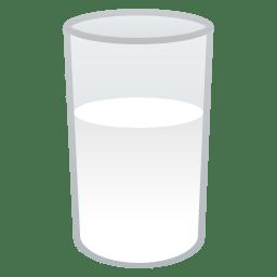 Glass of milk icon