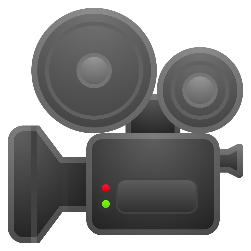 movie camera icon noto emoji objects iconset google