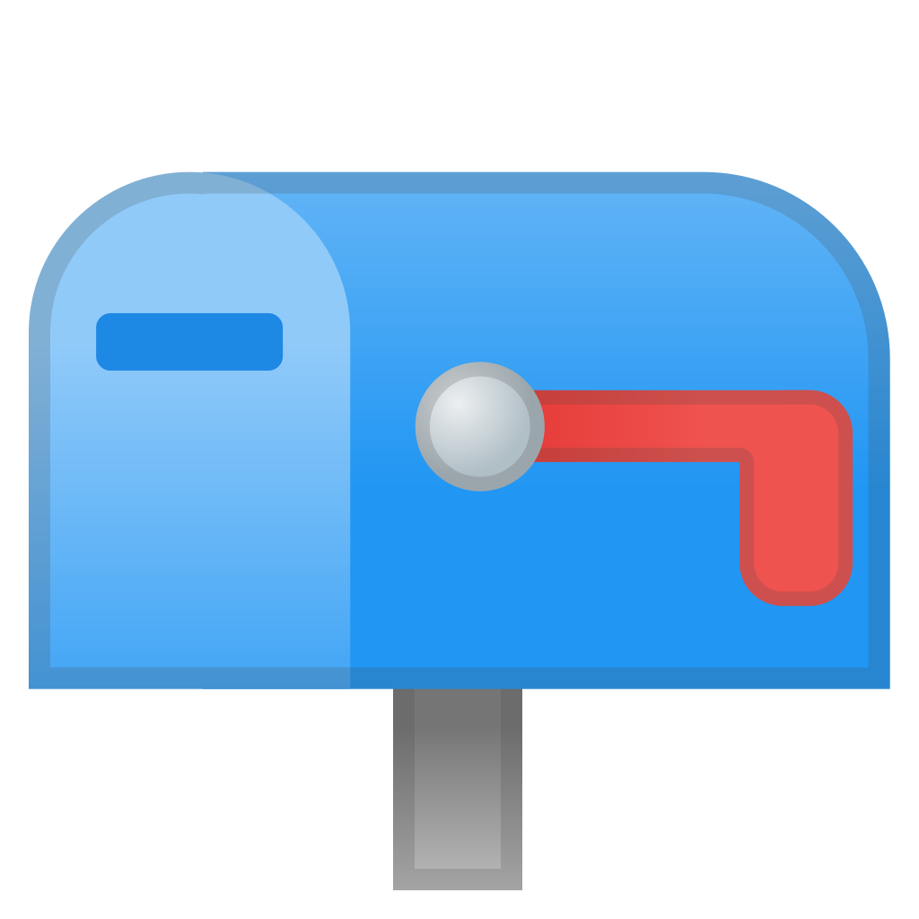 Closed mailbox with lowered flag Icon Noto Emoji Objects Iconset